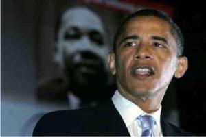 Ombre sinistre sulla strada di Obama – J.F. Kennedy e Martin Luther King incombono sulla stella Obama